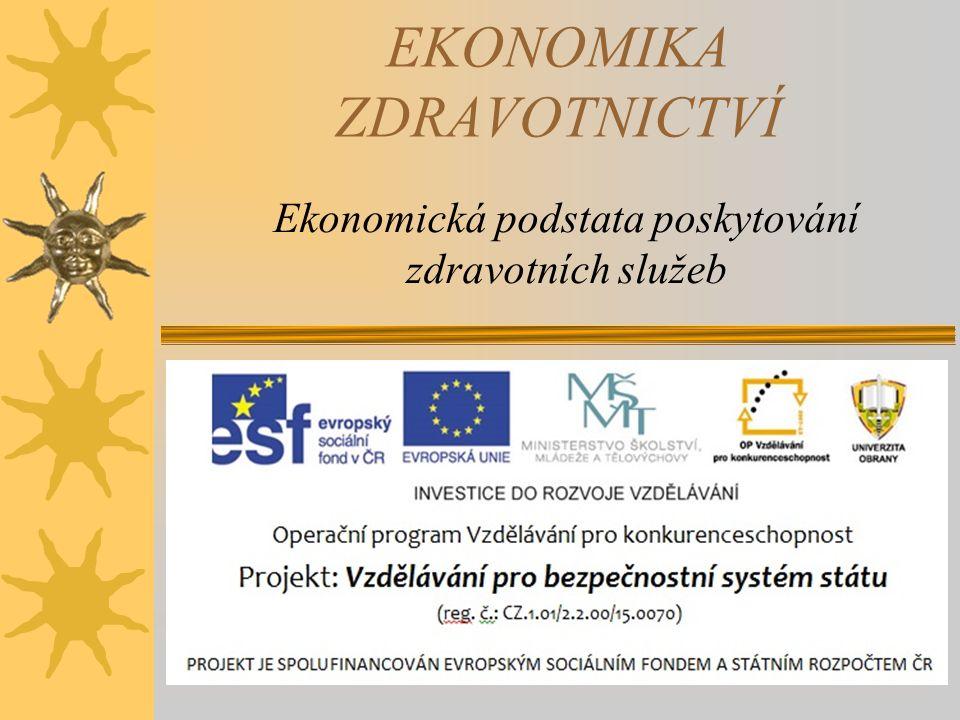 ZÁKLADNÍ PROBLÉMY POSKYTOVÁNÍ ZDRAVOTNÍ PÉČE V ČR  Makroekonomické problémy –Bude ekonomika schopna vytvořit zdroje pro pokrytí zdravotních potřeba.