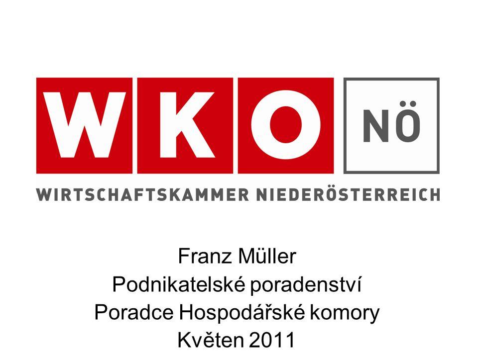 Franz Müller Podnikatelské poradenství Poradce Hospodářské komory Květen 2011