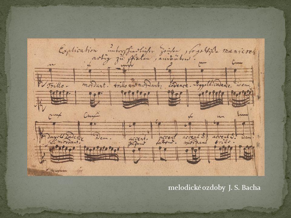 melodické ozdoby J. S. Bacha