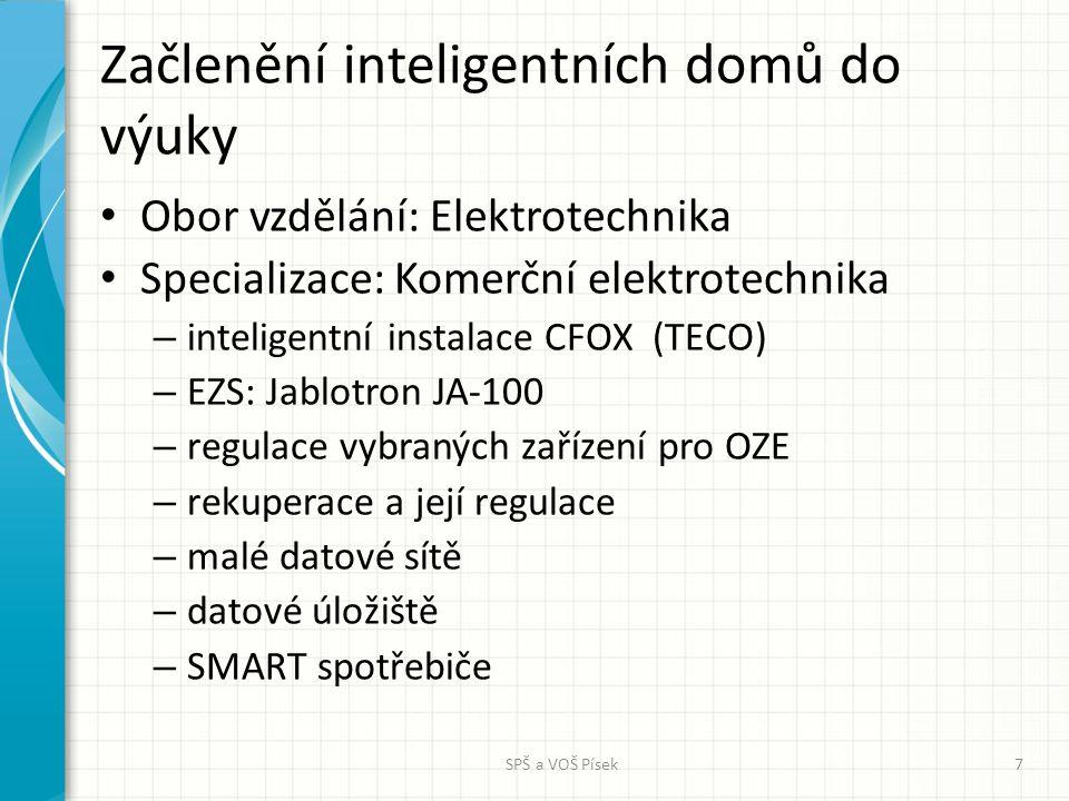 Začlenění inteligentních domů do výuky Obor vzdělání: Elektrotechnika Specializace: Komerční elektrotechnika – inteligentní instalace CFOX (TECO) – EZ