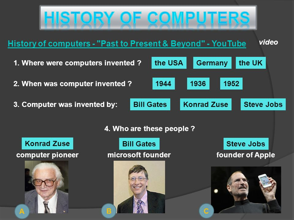 History of computers - Past to Present & Beyond - YouTube 1.