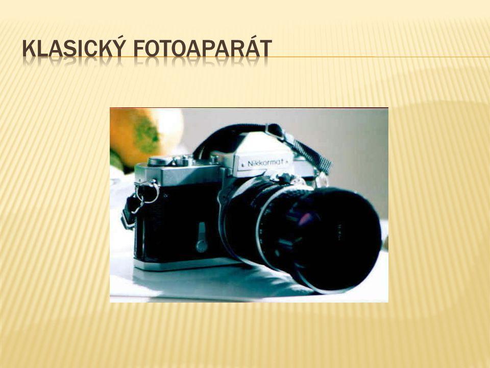  Digitální fotoaparát nám slouží k získání digitální obrazové předlohy k prezentaci, či k další úpravě na počítači.