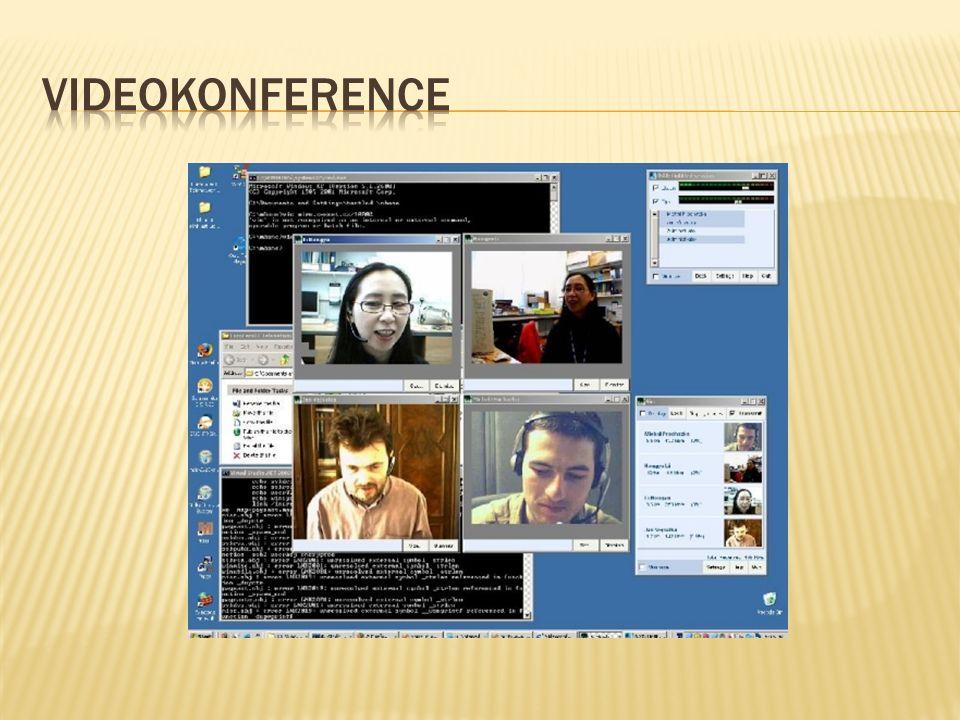  Virtuální třída umožňuje navázat spojení dvěma nebo více účastníkům připojených na internet.
