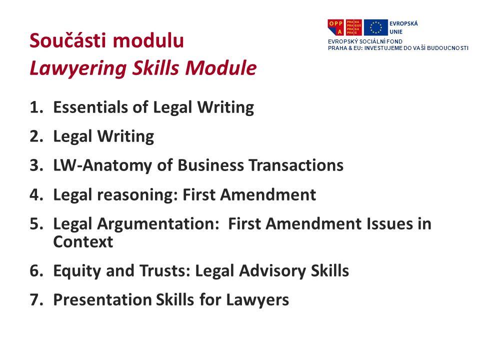 Předmět Právní psaní poprvé v LS 2011/2012 garanti: doc.