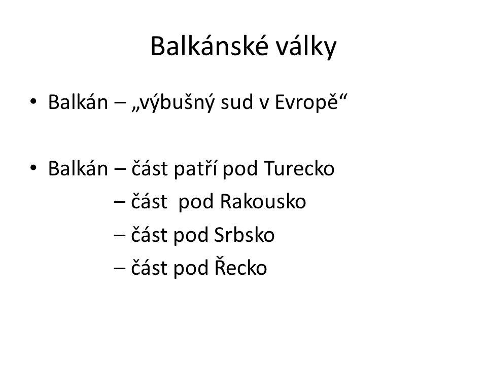 Balkánské války 1.1.
