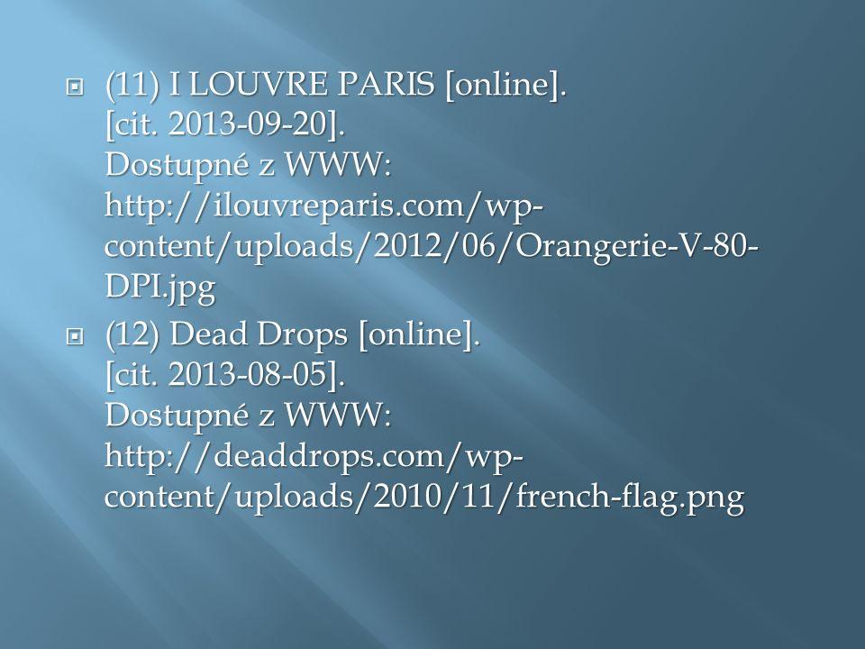  (11) I LOUVRE PARIS [online]. [cit. 2013-09-20].
