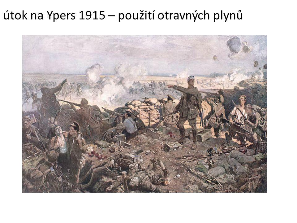útok na Ypers 1915 – použití otravných plynů