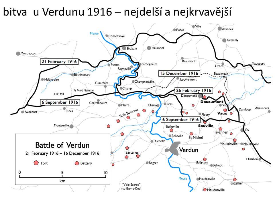 bitva u Verdunu 1916 – nejdelší a nejkrvavější