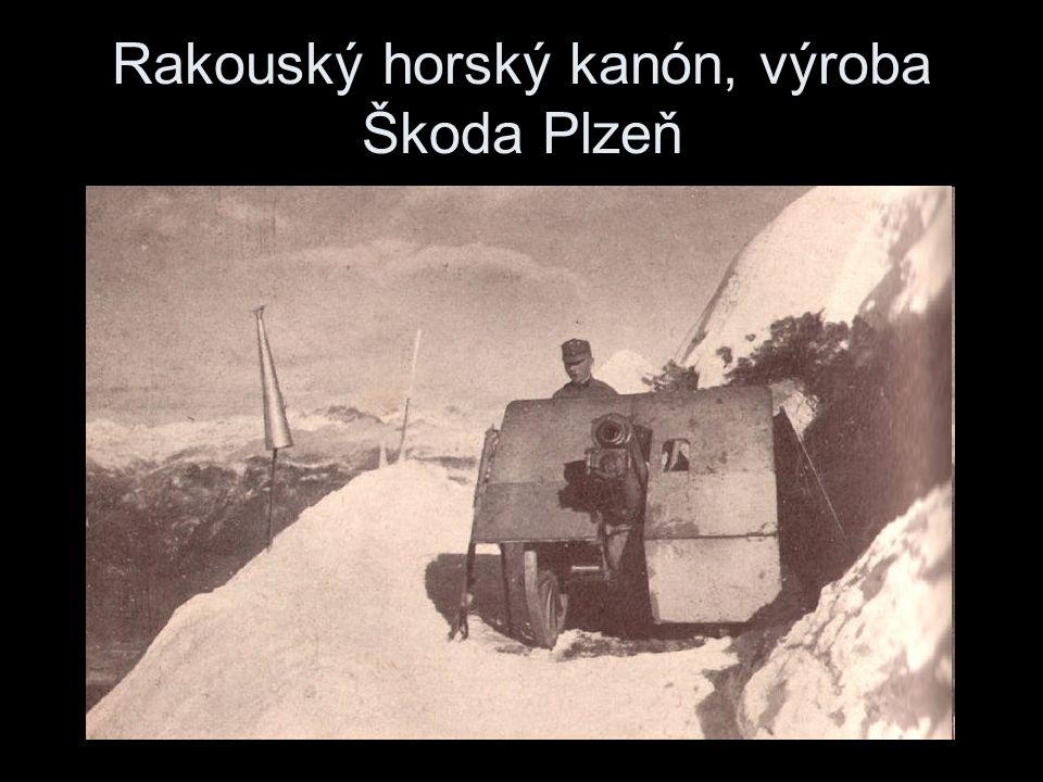 Rakouský horský kanón, výroba Škoda Plzeň