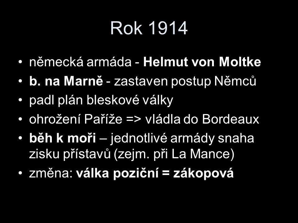 Rok 1914 německá armáda - Helmut von Moltke b.