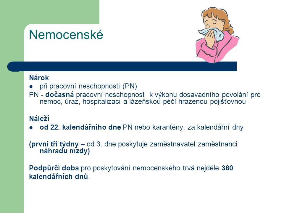 Nástup na PPM Žena má stanovený datum porodu na 1.