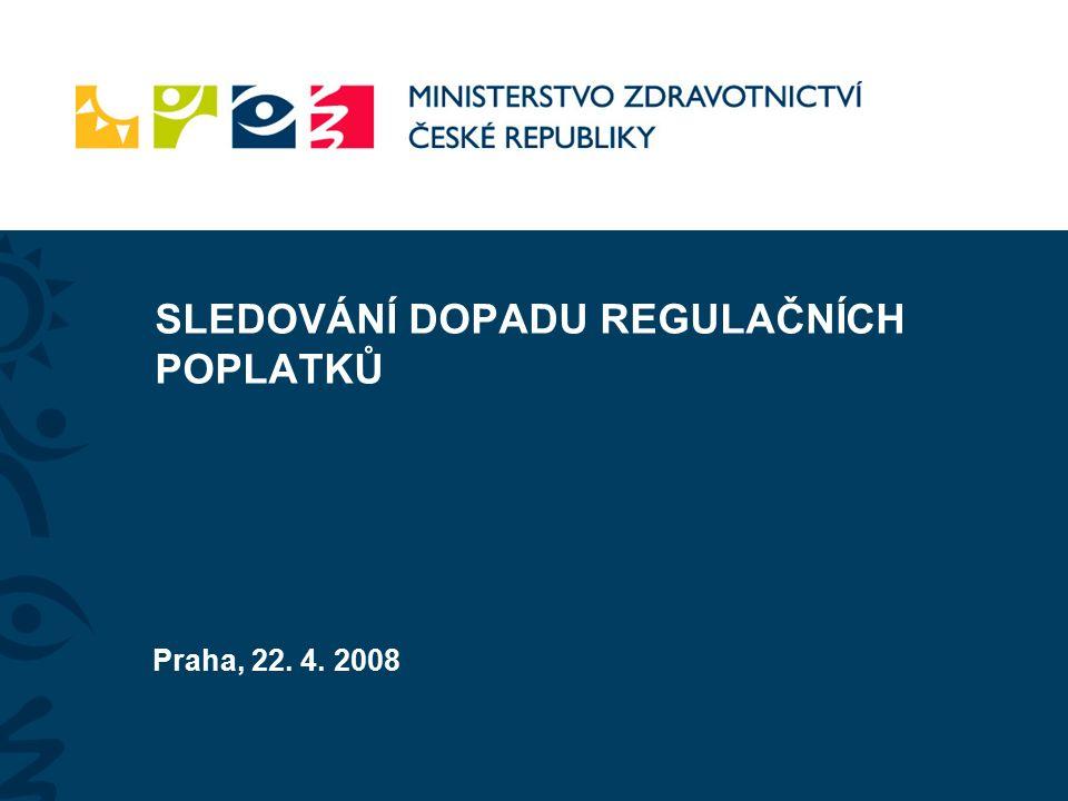 SLEDOVÁNÍ DOPADU REGULAČNÍCH POPLATKŮ Praha, 22. 4. 2008