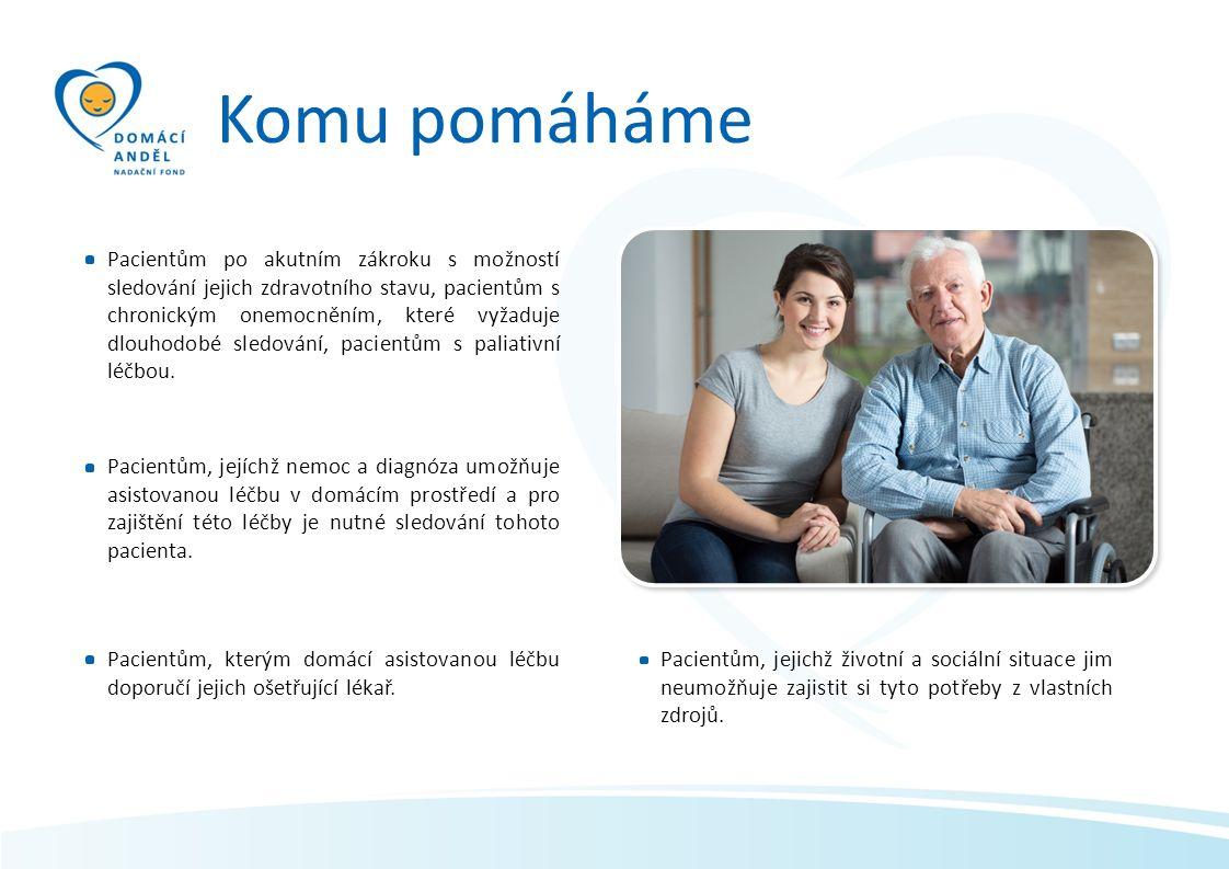Komu pomáháme Pacientům po akutním zákroku s možností sledování jejich zdravotního stavu, pacientům s chronickým onemocněním, které vyžaduje dlouhodob