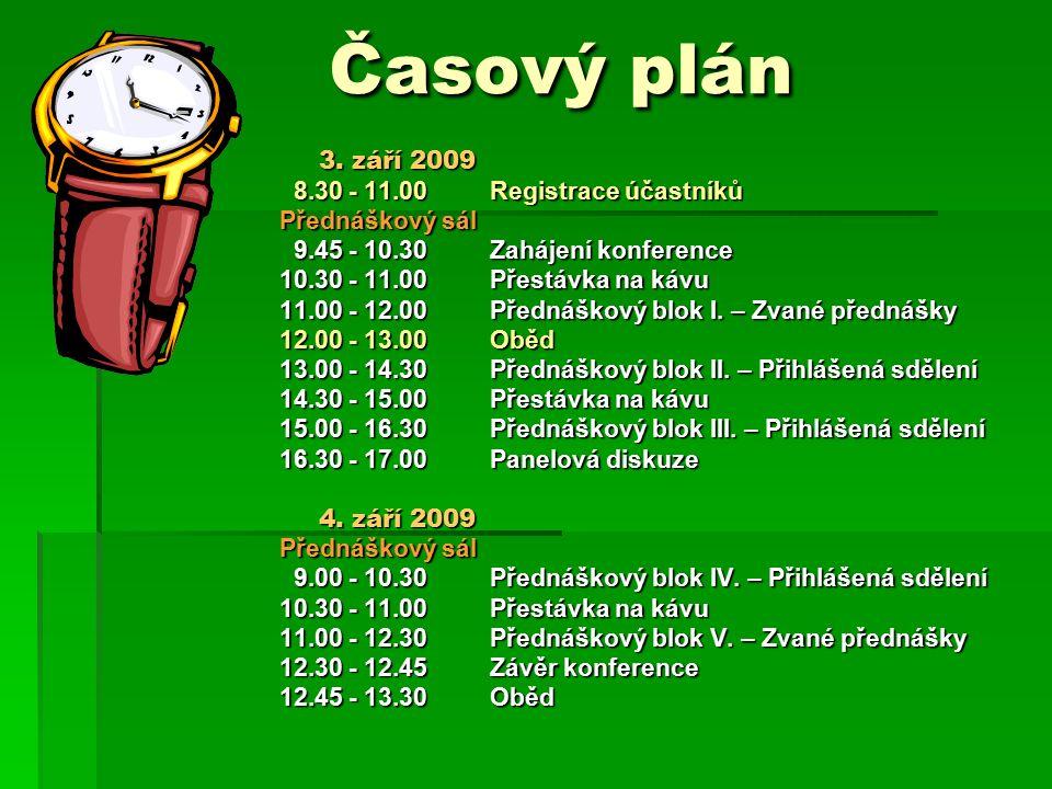 Časový plán Časový plán 3.