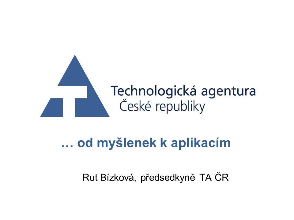 … od myšlenek k aplikacím Rut Bízková, předsedkyně TA ČR
