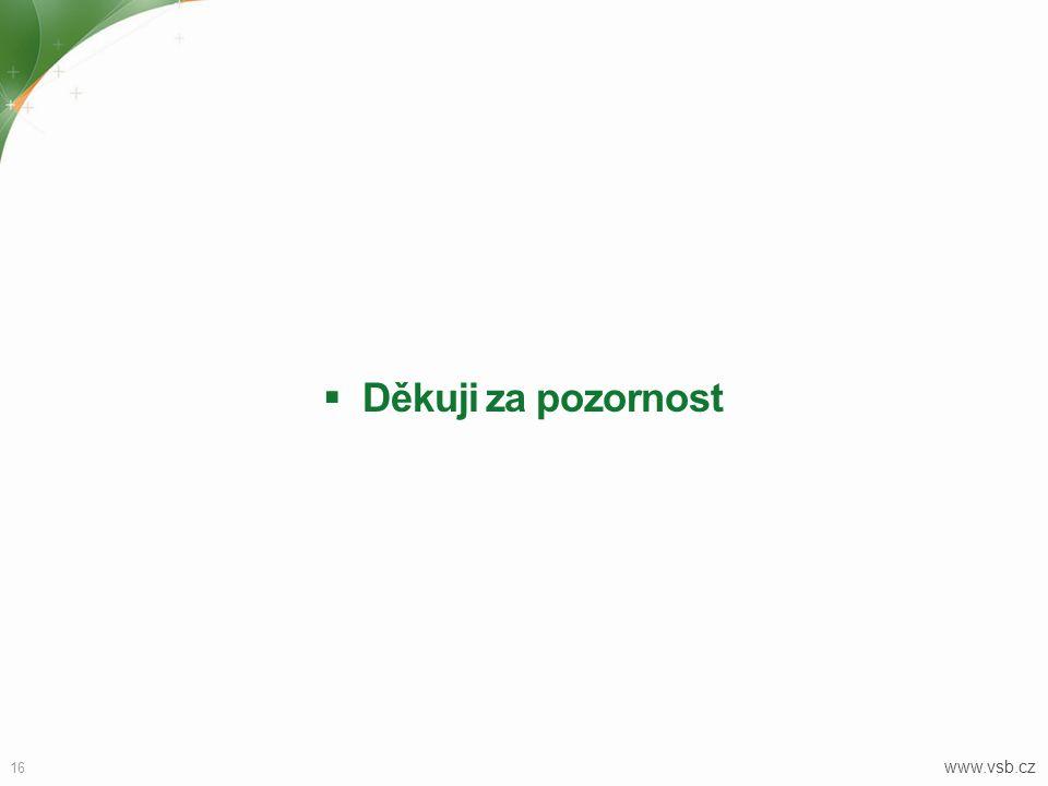  Děkuji za pozornost 16 www.vsb.cz
