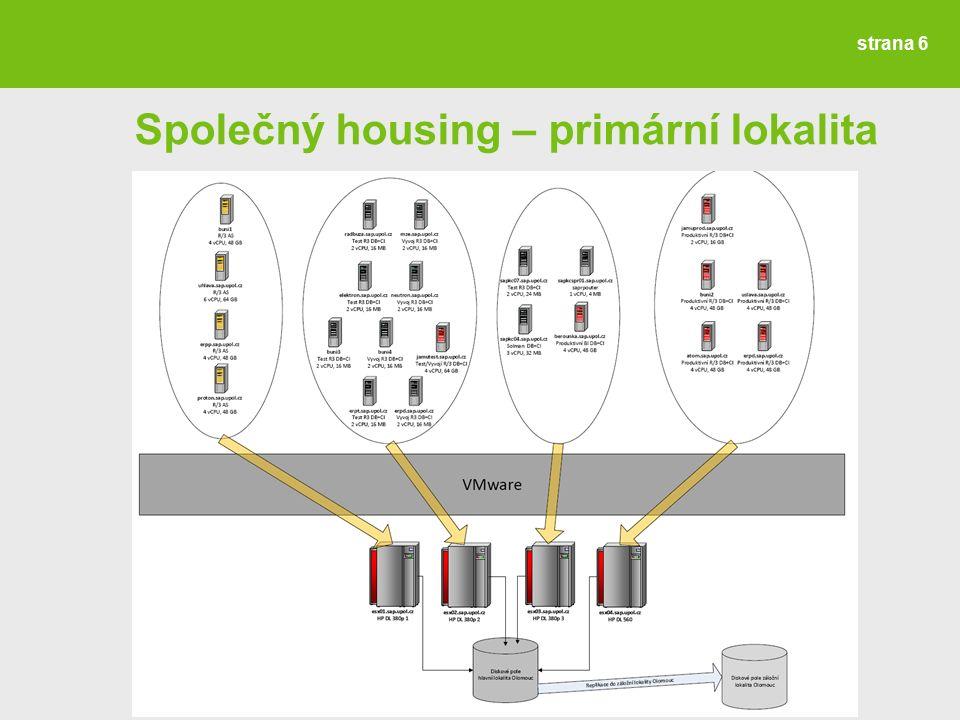 strana 6 Společný housing – primární lokalita