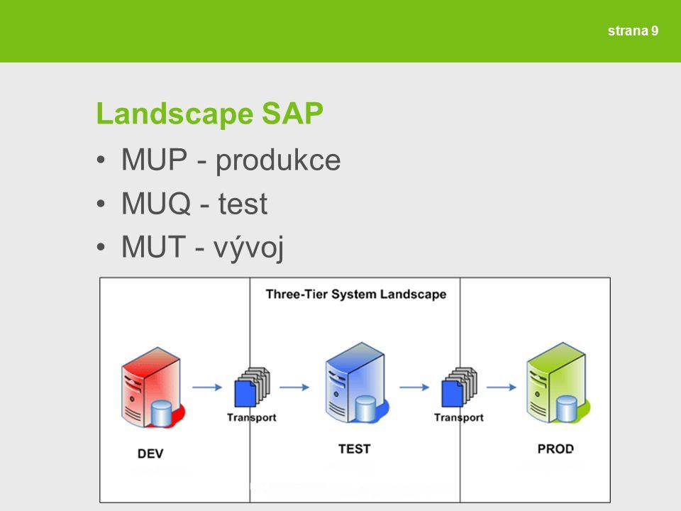 strana 10 Upgrade SAP OS Linux Red Hat Enterprise 7.1 DB Oracle 12c + Unicode SAP ERP 6.0 EHP 7