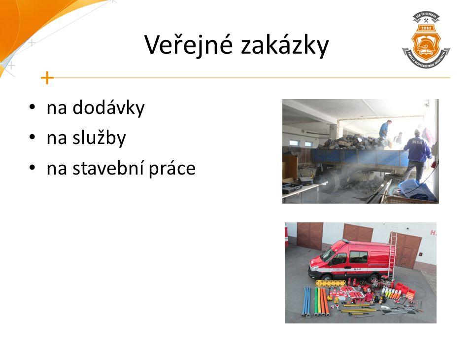 Veřejné zakázky na dodávky na služby na stavební práce