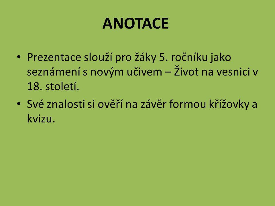 Rozvrstvení obyvatel na vesnici podle majetku (půda, dobytek) 1.
