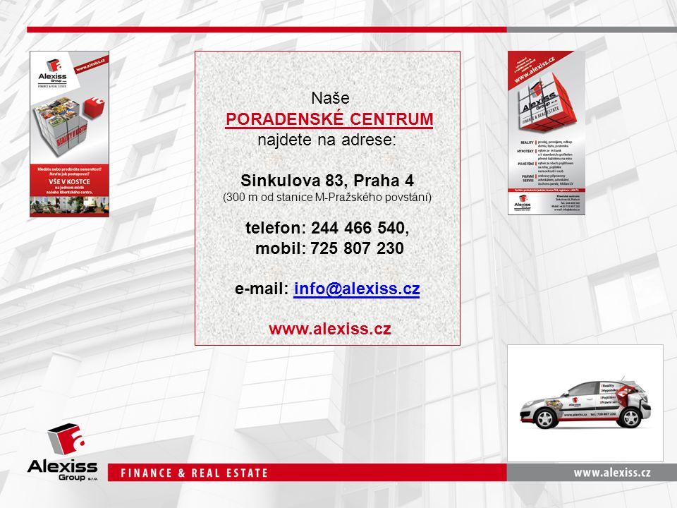 Naše PORADENSKÉ CENTRUM najdete na adrese: Sinkulova 83, Praha 4 (300 m od stanice M-Pražského povstání) telefon: 244 466 540, mobil: 725 807 230 e-ma