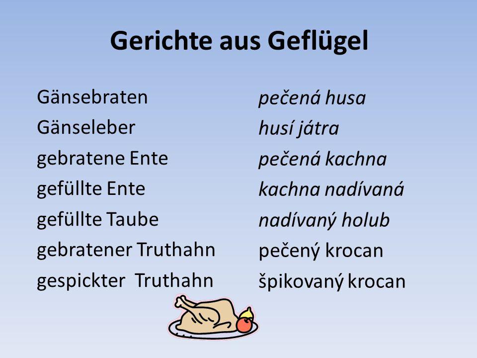 Přiřaďte k obrázku názvy Hühnerbrust (kuřecí prsa), Hüherschlegel (kuřecí stehno), Hühnerflügel (kuřecí křídlo)