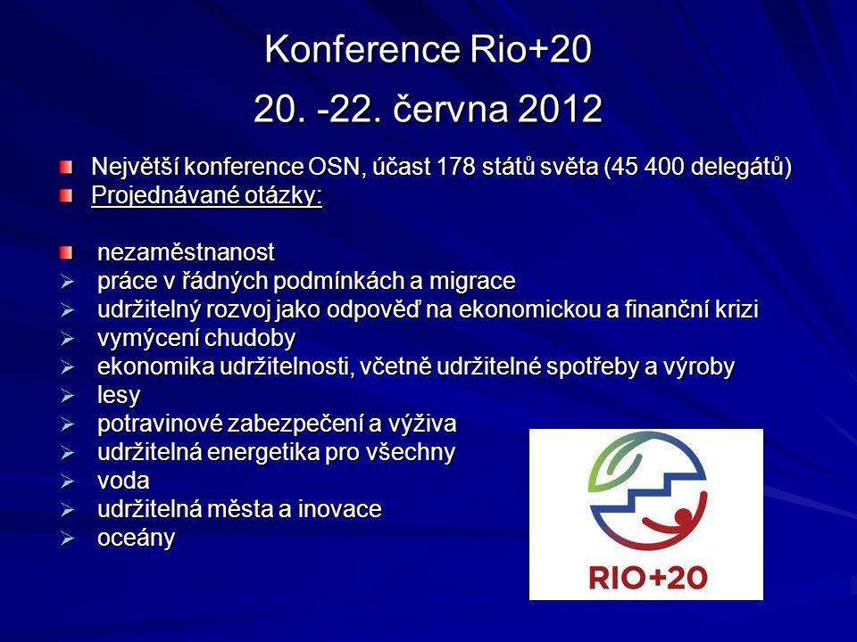 Světový summit o životním prostředí 2002 v Johanesburgu Summit v Johannesburgu skončil, pokračuje však nastoupená cesta k naplňování přijatých úmluv a závazků z konference v Rio de Janeiro v roce 1992.