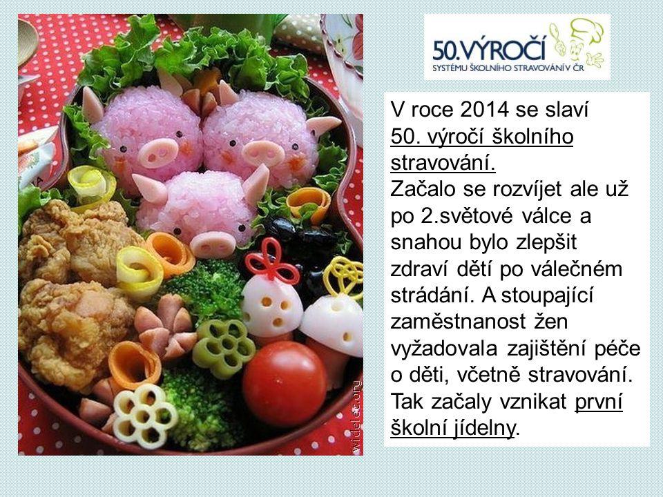 V roce 2014 se slaví 50.výročí školního stravování.
