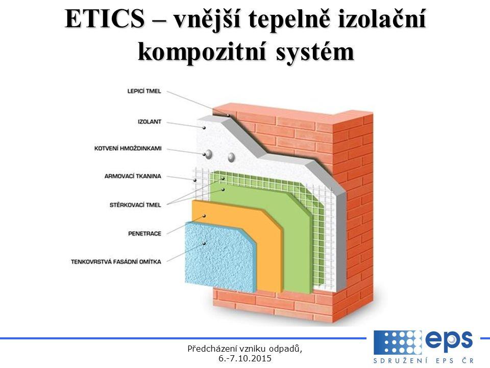 Předcházení vzniku odpadů, 6.-7.10.2015 ETICS – vnější tepelně izolační kompozitní systém
