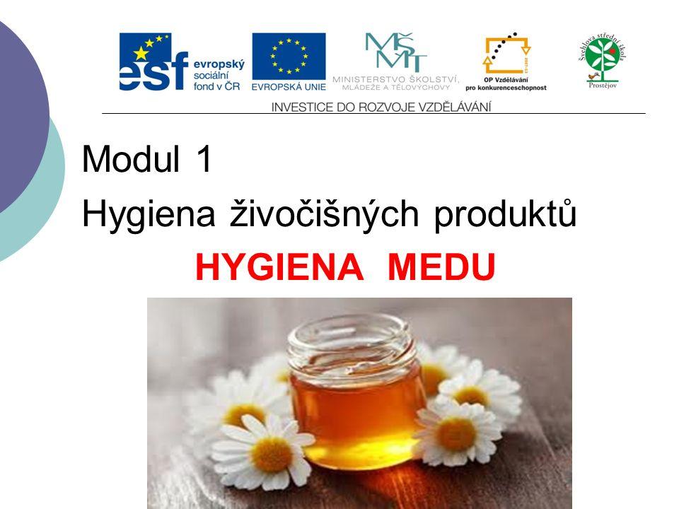 Slide 1 Modul 1 Hygiena živočišných produktů HYGIENA MEDU