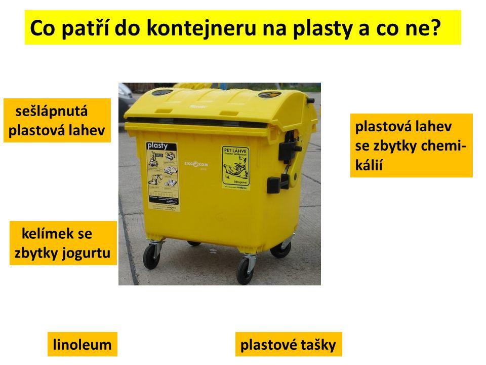 Co patří do kontejneru na plasty a co ne.
