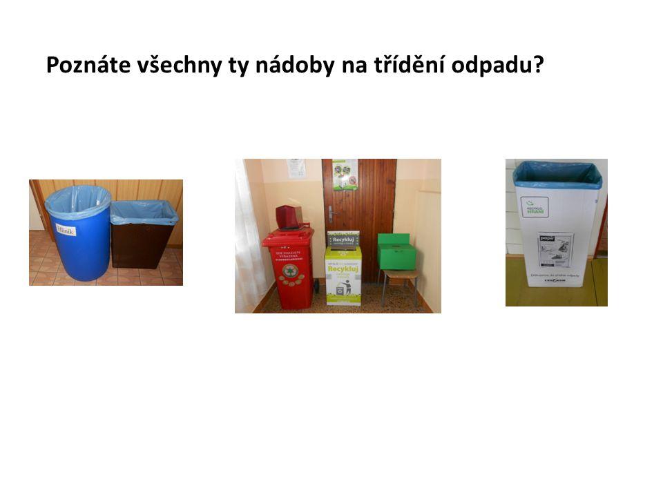 Poznáte všechny ty nádoby na třídění odpadu?