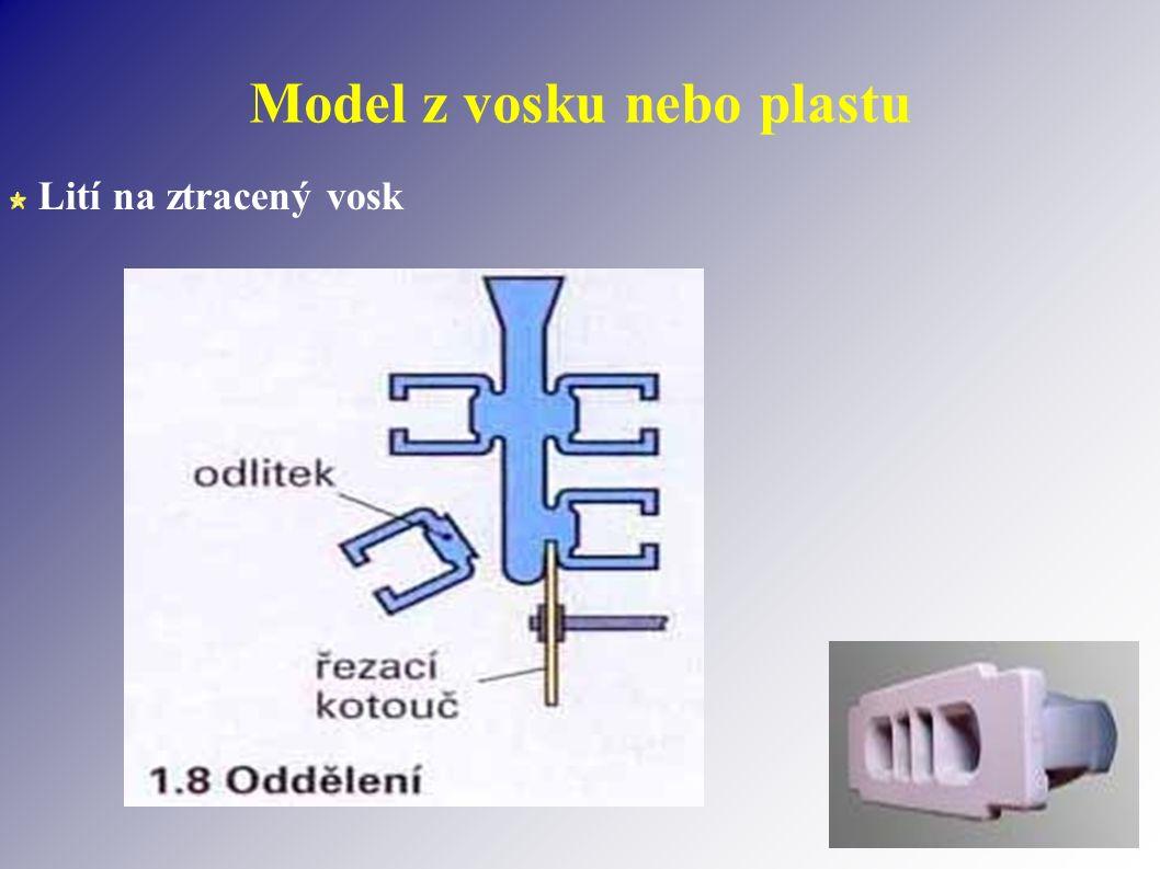 Model z vosku nebo plastu Lití na ztracený vosk