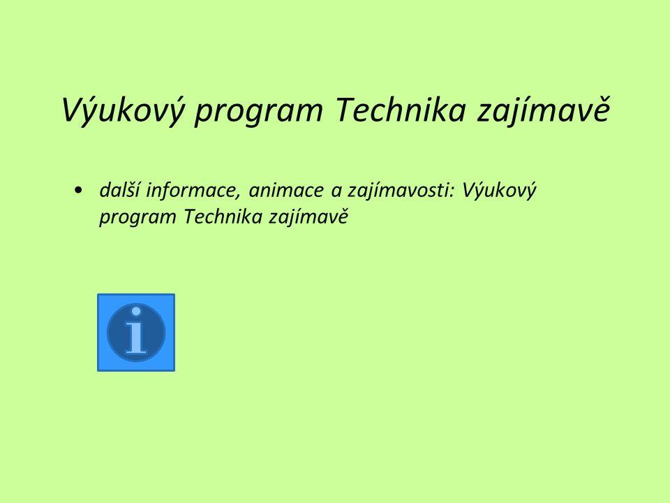 Výukový program Technika zajímavě další informace, animace a zajímavosti: Výukový program Technika zajímavě