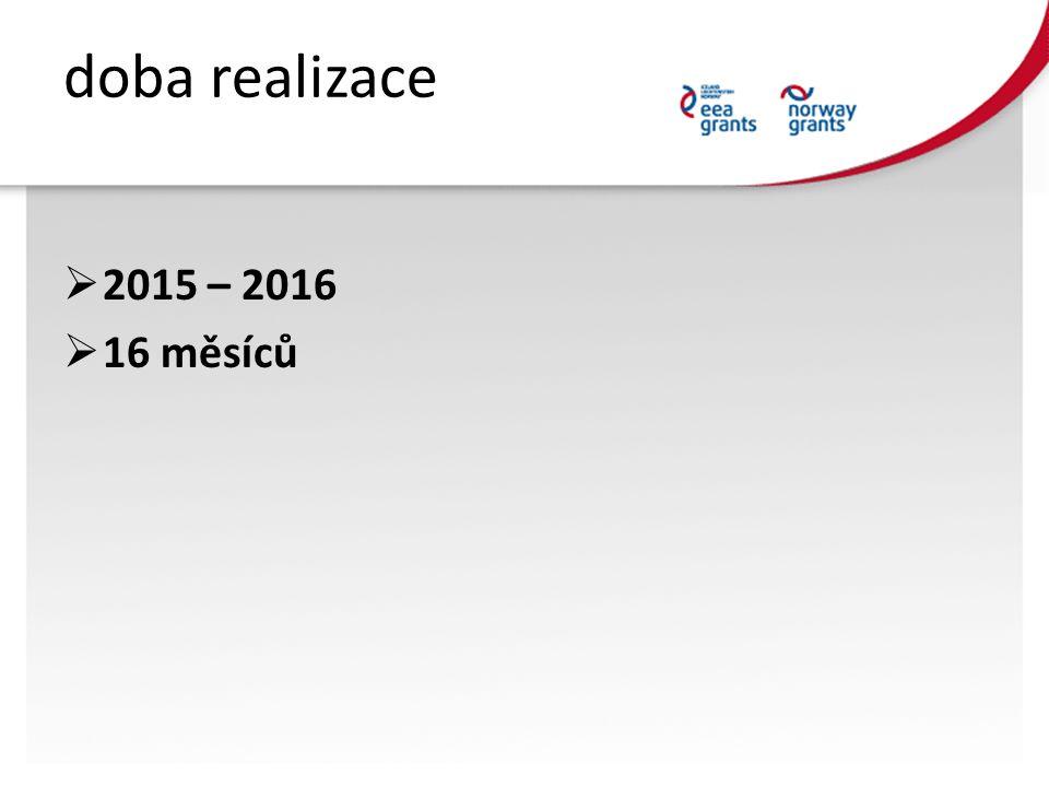 doba realizace  2015 – 2016  16 měsíců