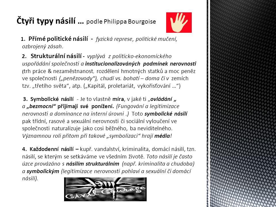 Čtyři typy násilí … podle Philippa Bourgoise 1.