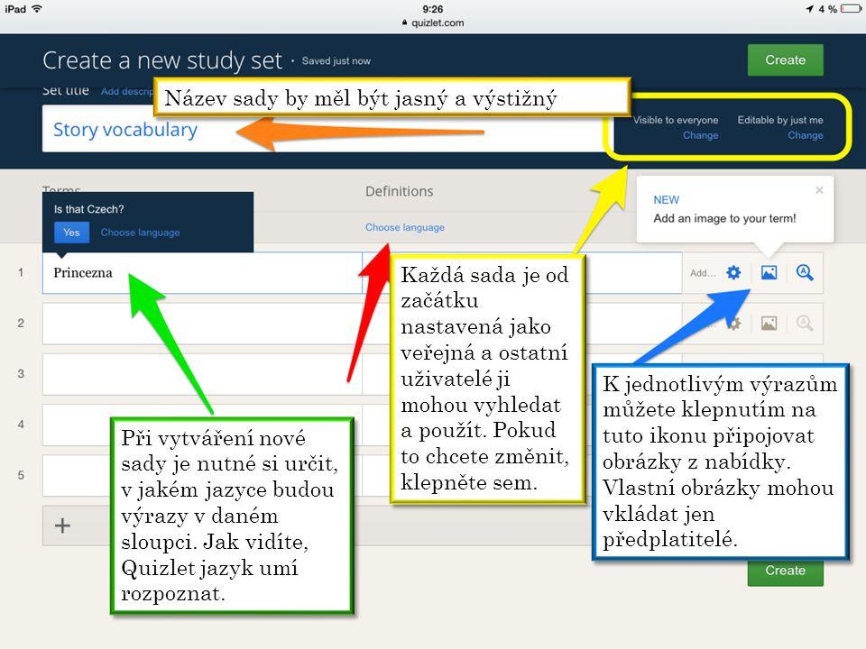 Aplikace vyhledává obrázek automaticky podle zadaného výrazu.