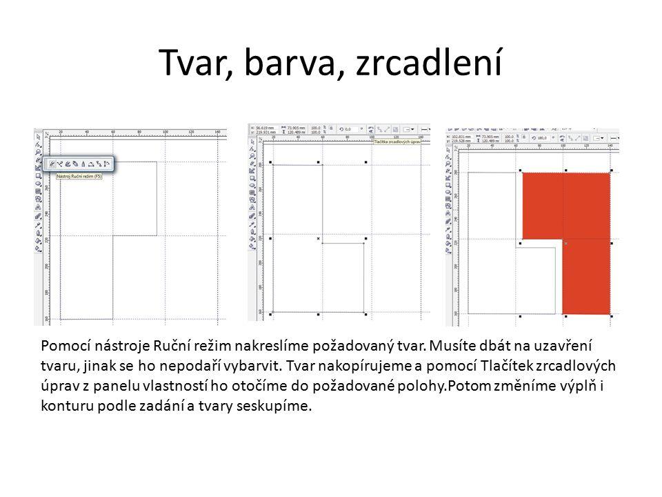 Řetězový text Zvolíme nástroj text, levým tlačítkem myši označíme místo pro psaní.