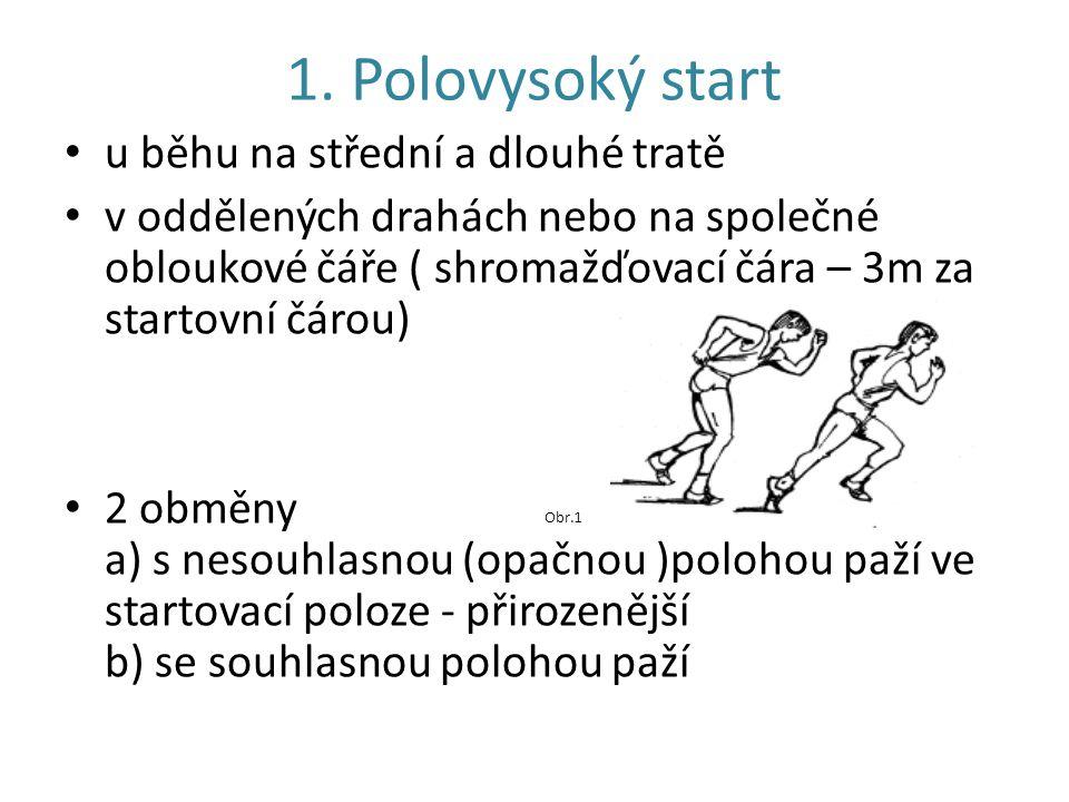 """Startovací povely při polovysokém startu 1.""""Svlékat 2."""