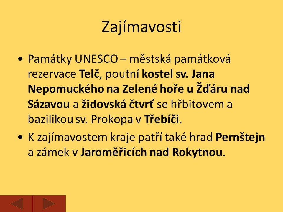 Zajímavosti Památky UNESCO – městská památková rezervace Telč, poutní kostel sv.