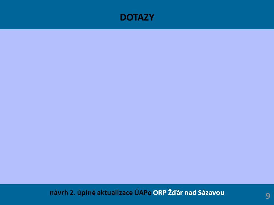 DOTAZY návrh 2. úplné aktualizace ÚAPo ORP Žďár nad Sázavou 9