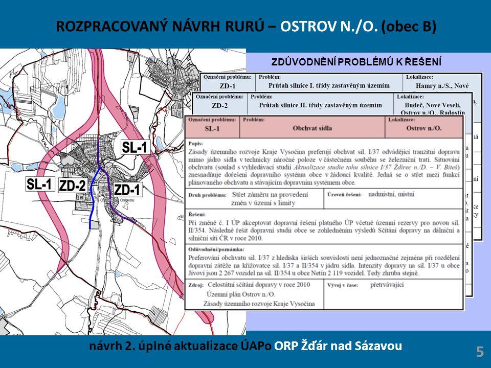 ROZPRACOVANÝ NÁVRH RURÚ – OSTROV N./O.