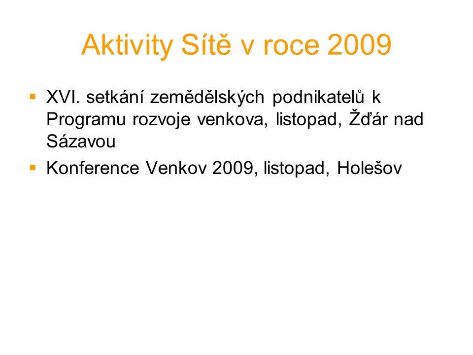 Aktivity Sítě v roce 2009  XVI.
