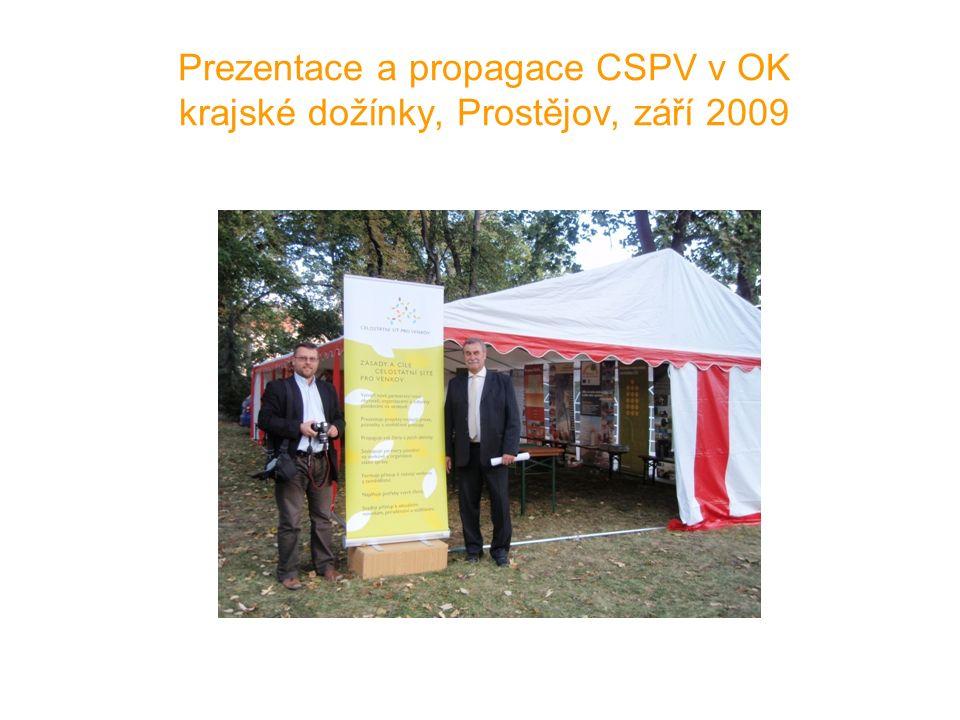 Prezentace a propagace CSPV v OK krajské dožínky, Prostějov, září 2009