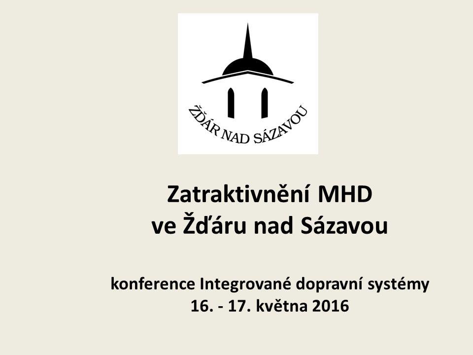 Zatraktivnění MHD ve Žďáru nad Sázavou konference Integrované dopravní systémy 16. - 17. května 2016