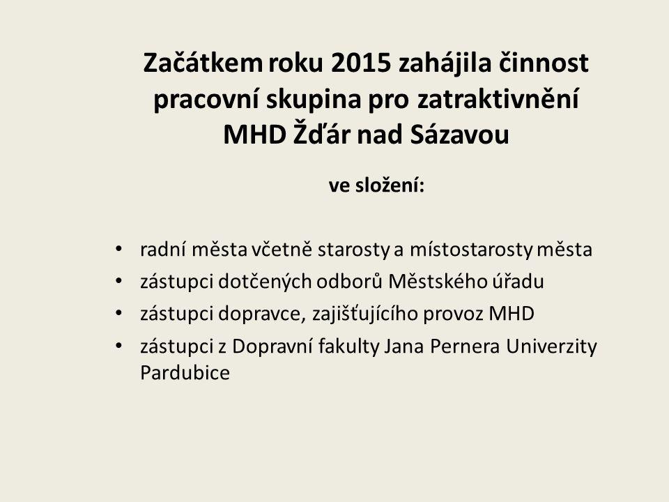 Začátkem roku 2015 zahájila činnost pracovní skupina pro zatraktivnění MHD Žďár nad Sázavou ve složení: radní města včetně starosty a místostarosty mě