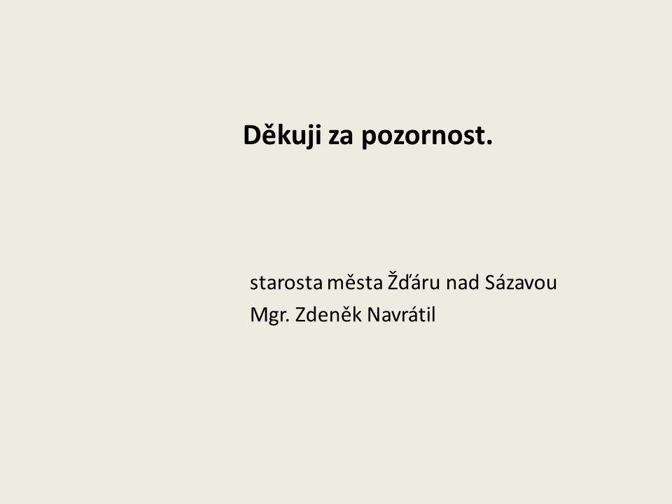 Děkuji za pozornost. starosta města Žďáru nad Sázavou Mgr. Zdeněk Navrátil