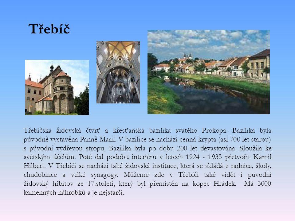 Třebíč Třebíčská židovská čtvrť a křesťanská bazilika svatého Prokopa.
