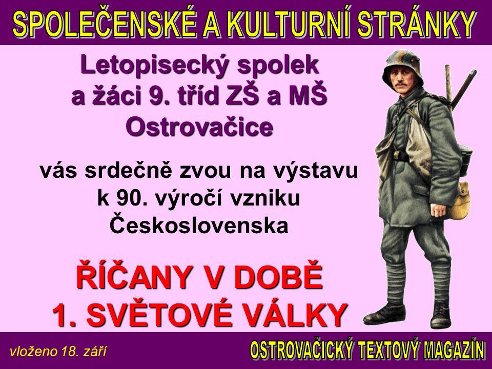 vloženo 18. září Letopisecký spolek a žáci 9.