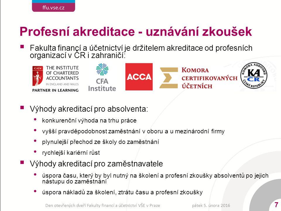 Obsah výuky  Studium je zaměřeno nejen na české účetnictví ale zejména na problémy harmonizace účetního výkaznictví: Mezinárodní účetní standardy (IAS/IFRS) Pravidla účetního výkaznictví v EU Severoamerické účetní standardy (US GAAP)  Významnou částí specializace oboru je problematika auditingu, a účetnictví neziskových organizací ÚČETNICTVÍ A FINANČNÍ ŘÍZENÍ PODNIKU pátek 5.
